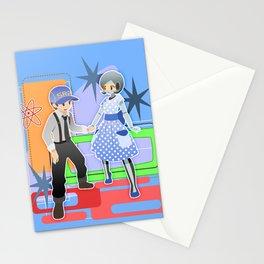Mass Effect - 50's Fashion Joker and Edi Stationery Cards