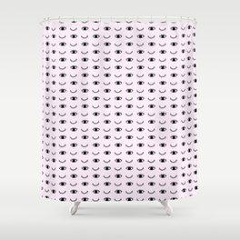 Pink eye wink Shower Curtain