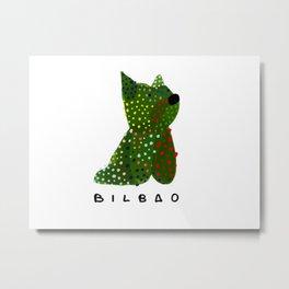 Puppy Guggenheim Bilbao Metal Print