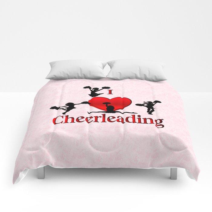 I Heart Cheerleading Comforters