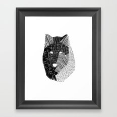 Wolf Mask Framed Art Print