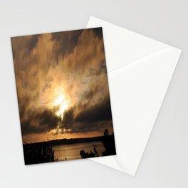 Misty Sunset on the PI Basin Stationery Cards