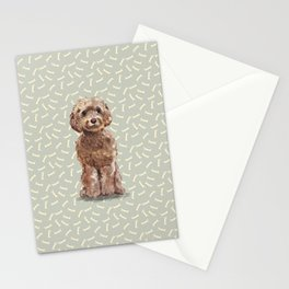 Watercolor Cockapoo Dog Stationery Cards