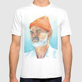 Bill Murray as Steve Zissou Portrait Art T-shirt