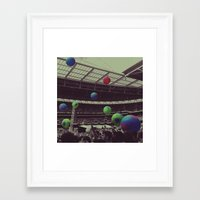 coldplay Framed Art Prints featuring Coldplay at Wembley by Efua Boakye