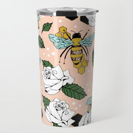 Bees on the flowers Travel Mug