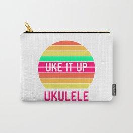 Ukulele Uke It Up Hawaii Sunshine Tropical Life Ukelele Carry-All Pouch
