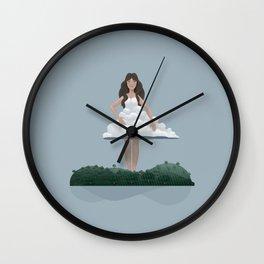 Cloud and woman Wall Clock