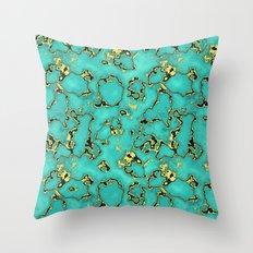 GOLD TURQUOISE Throw Pillow