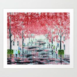 Cherry Blossom season Bonn, Germany Art Print