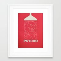 psycho Framed Art Prints featuring Psycho by Comicord