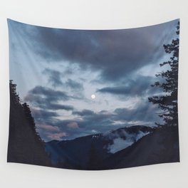 quietly, moon Wall Tapestry