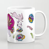 cannabis Mugs featuring Cannabis Bunnies by Ri 13