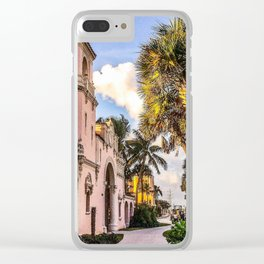 Tropical Railroad Station Clear iPhone Case