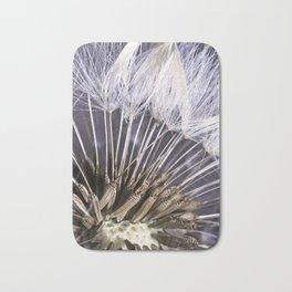 Extreme Macro Image of a Dandelion Seed Head Bath Mat