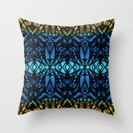 Fractal Art Stained Glass G315 Throw Pillow