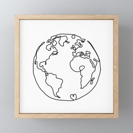The World in Love Framed Mini Art Print