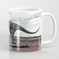 dino Mugs featuring Dino by Nick Douillard