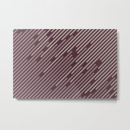 Purple Pink-Purple Taupe Gray Stripe Pattern 2021 Color of the Year Epoch and Accent Shades Metal Print