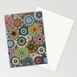 mandala cirque festival stripe Stationery Cards