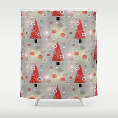 Holiday Snow Fall Shower Curtain
