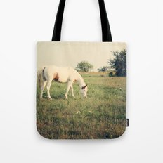 It's not a unicorn! It's a white horse! Tote Bag