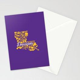 LSU Louisiana Landmark State - Purple and Gold LSU Theme Stationery Cards