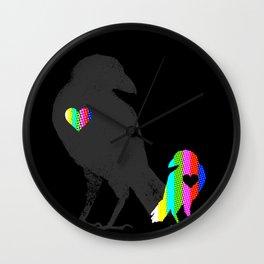 Crow's Heart Wall Clock