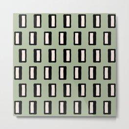 Chad Pattern Green 2 Metal Print
