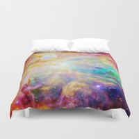 nebula Duvet Covers featuring nEBula : Colorful Orion Nebula by 2sweet4words Designs