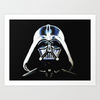 vader Art Prints featuring VADER by Aoife Rooney Art
