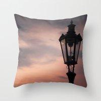 lantern Throw Pillows featuring Victorian Lantern by Maria Heyens
