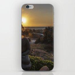 Sunset Over Representation Of Sitting Protection Buddha iPhone Skin