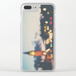 london lights Clear iPhone Case