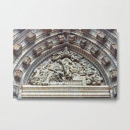 Door of Assumption detail, Seville Cathedral, Spain Metal Print