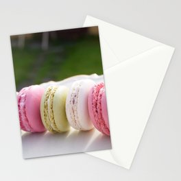 colorfull french macaroons Stationery Cards