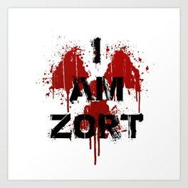 I Am ZORT Art Print