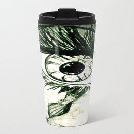 Crying Eye Graphite Illustration Travel Mug