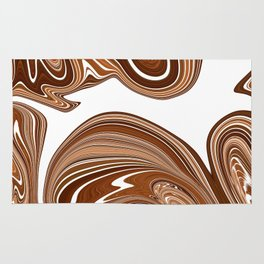 Bold Copper Agate Stone Effect Design Rug