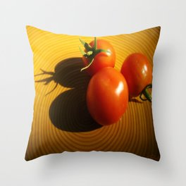 Abstract Tomato Throw Pillow