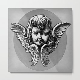 Cherub Face | Angel | Vintage cherub | Vintage angel | Angel decor Metal Print