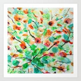 Garden's inspiration Art Print