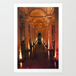 Pillars Of Light! Art Print