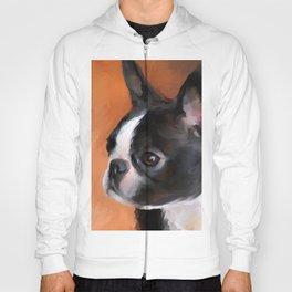 Perky Boston Terrier Hoody