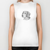beagle Biker Tanks featuring Beagle by Doggyshop