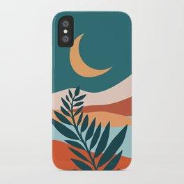 Moonlit Mediterranean / Maximal Mountain Landscape iPhone Case