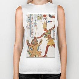 Vintage Egyptian gods artwork Biker Tank