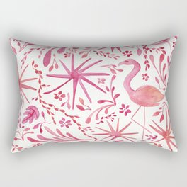 Flamingos at the Beach Rectangular Pillow