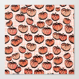 Pumpkin Patch Plaid Canvas Print
