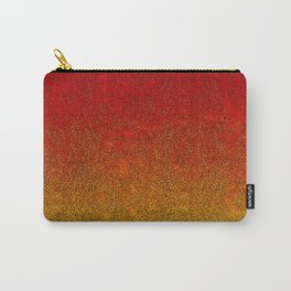 Flame Glitter Gradient Carry-All Pouch